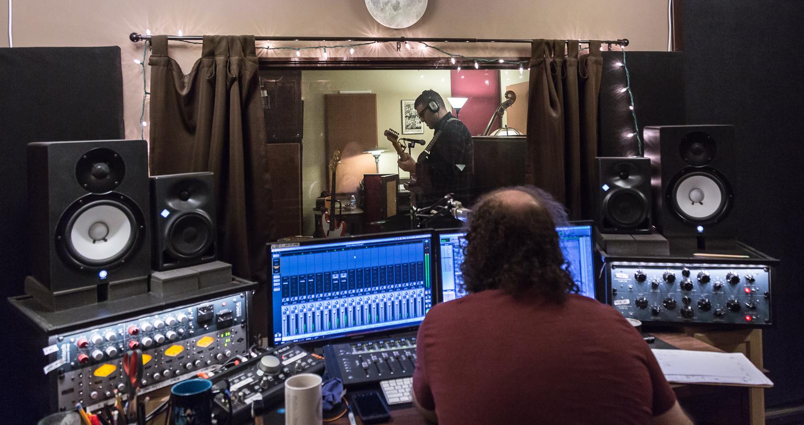 Ian recording Ryan