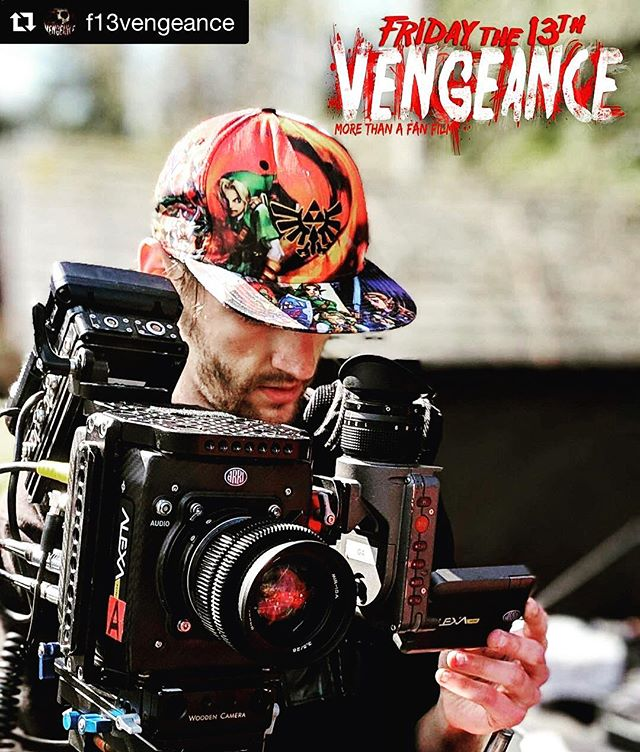 """#Repost @f13vengeance ・・・ When we are asked why is Vengeance more than a fan film we are quick to brag. """"We have C.J. Graham, the last performance of the late great Steve Dash, production designer and 1st AD Mick Strawn etc etc etc. Now we have added """"THE"""" camera in the film industry. The Arri Alexa Mini.  Seen her being worked by our director of photography Dustin Glen Montierth.  Vengeance - """"More Than A Fan Film"""". #arrialexamini #film #filmmaking #morethaneafanfilm # f13 #f13vengeance #fridaythe13th #jason #jasonvoorhees #f13history #horror #horrorfilms #horrormovies #fanfilm #brownspacefilms #filmmaking #manbehindthemask #slasher #moviemaking #crystallake #campcrystallake #campblood #bloody #props #slasherfilm #voorhees #friday #trending #thejasonbrooks #jasonbrooks"""
