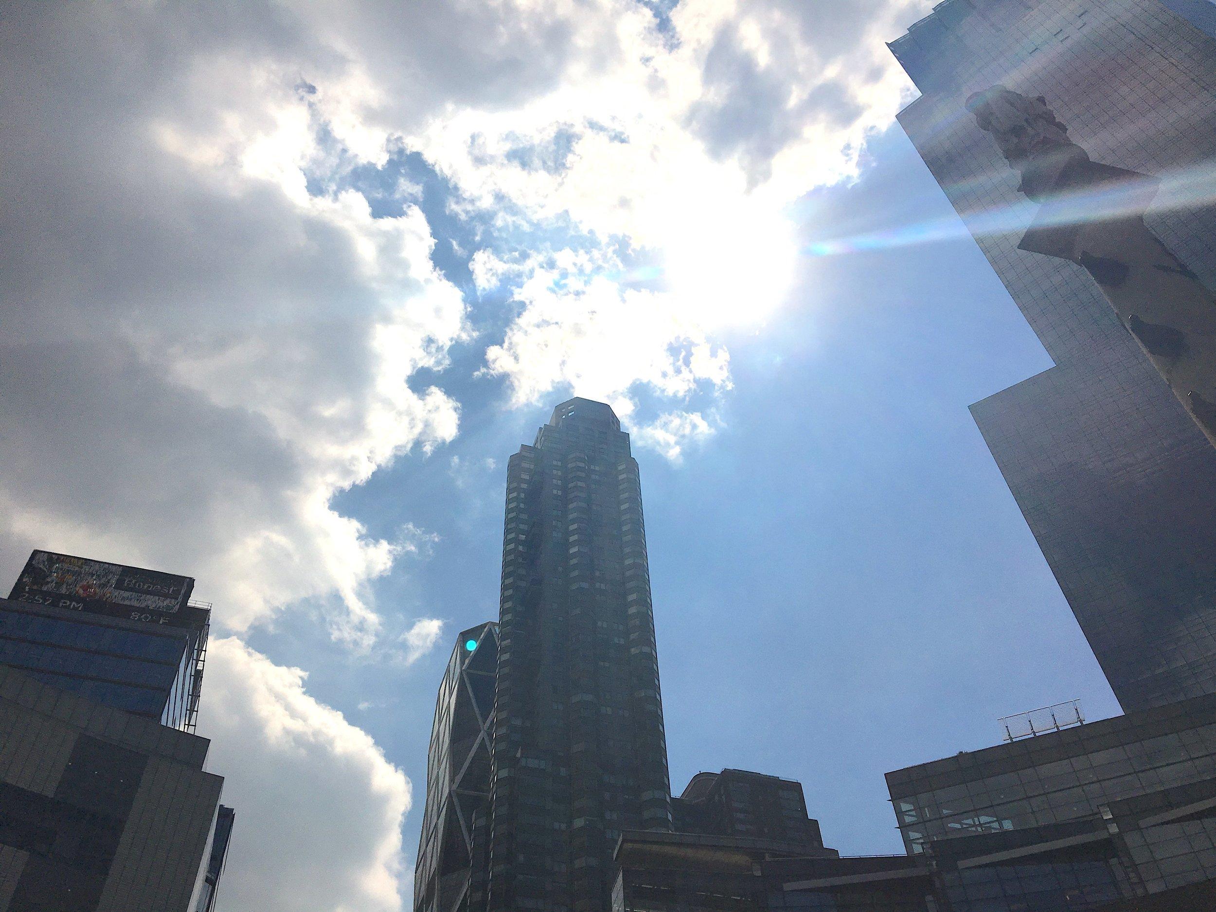 The valley at street level, Columbus Circle. New York City, June 2017. © Pamela Kerpius