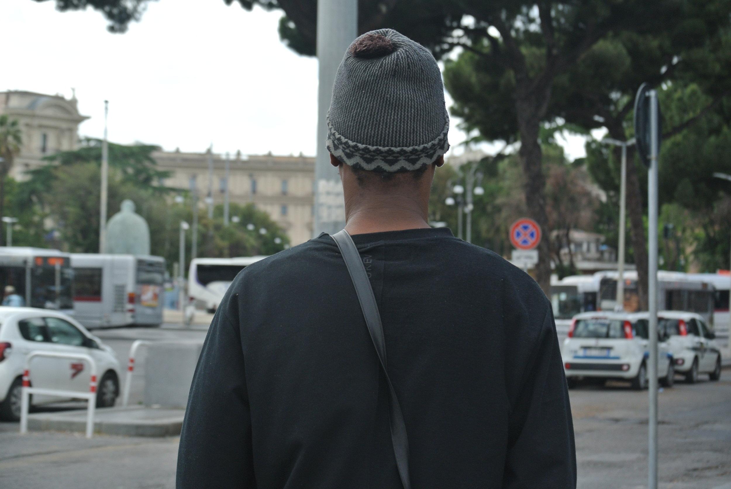Ali outside Roma Termini station, May 2018. © Pamela Kerpius
