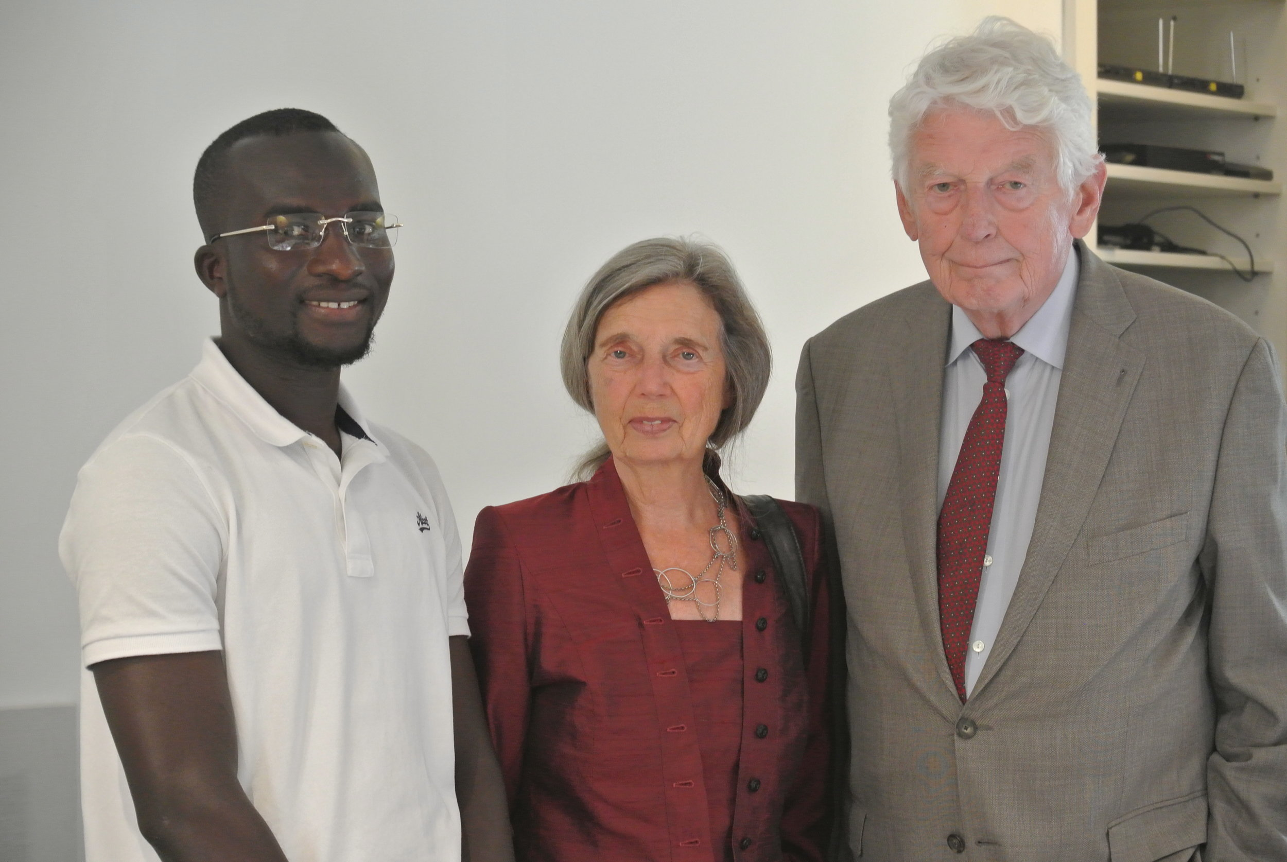 Bakary, Rita Roukema, and Willem Kok, former Prime Minister of The Netherlands. The Embassy of Switzerland, Rome. 11 June 2018.