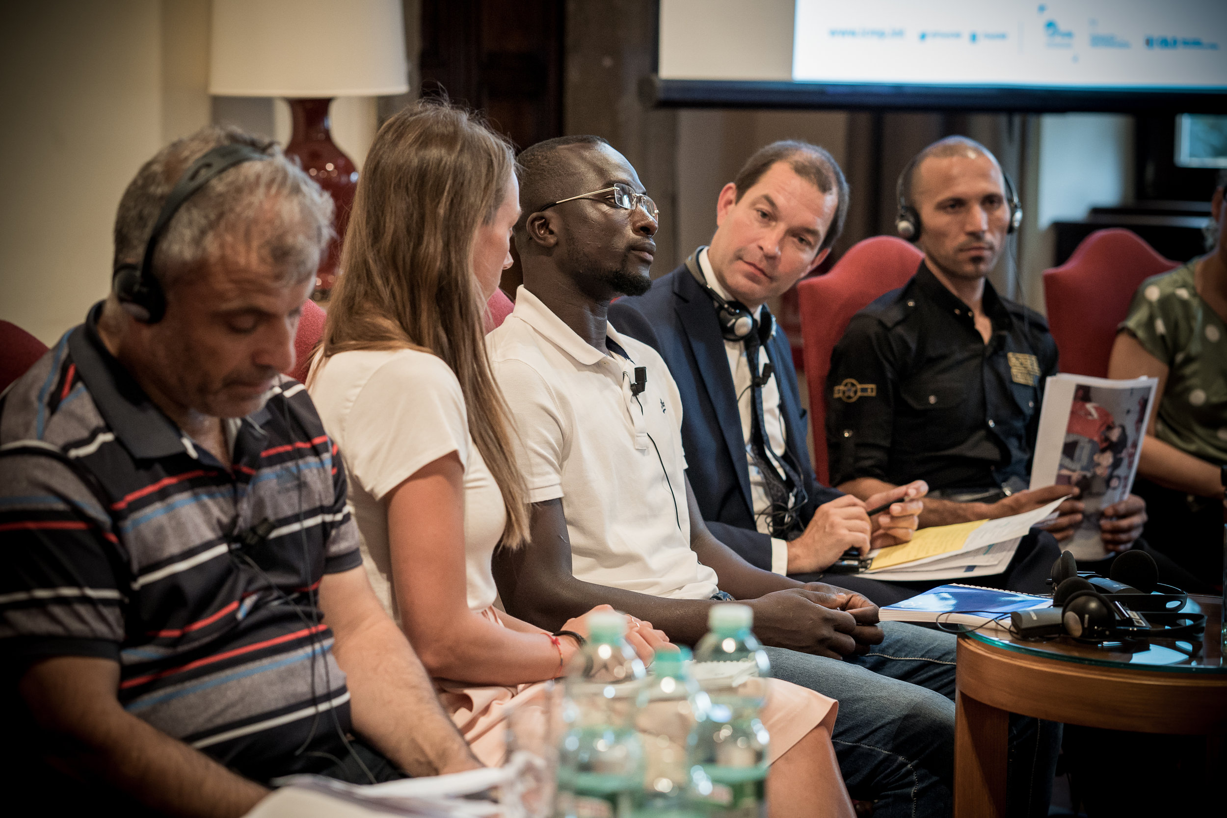 Bakary speaks at the conference; the Embassy of Switzerland, Rome. 11 June 1018. Image courtesy of the  ICMP .