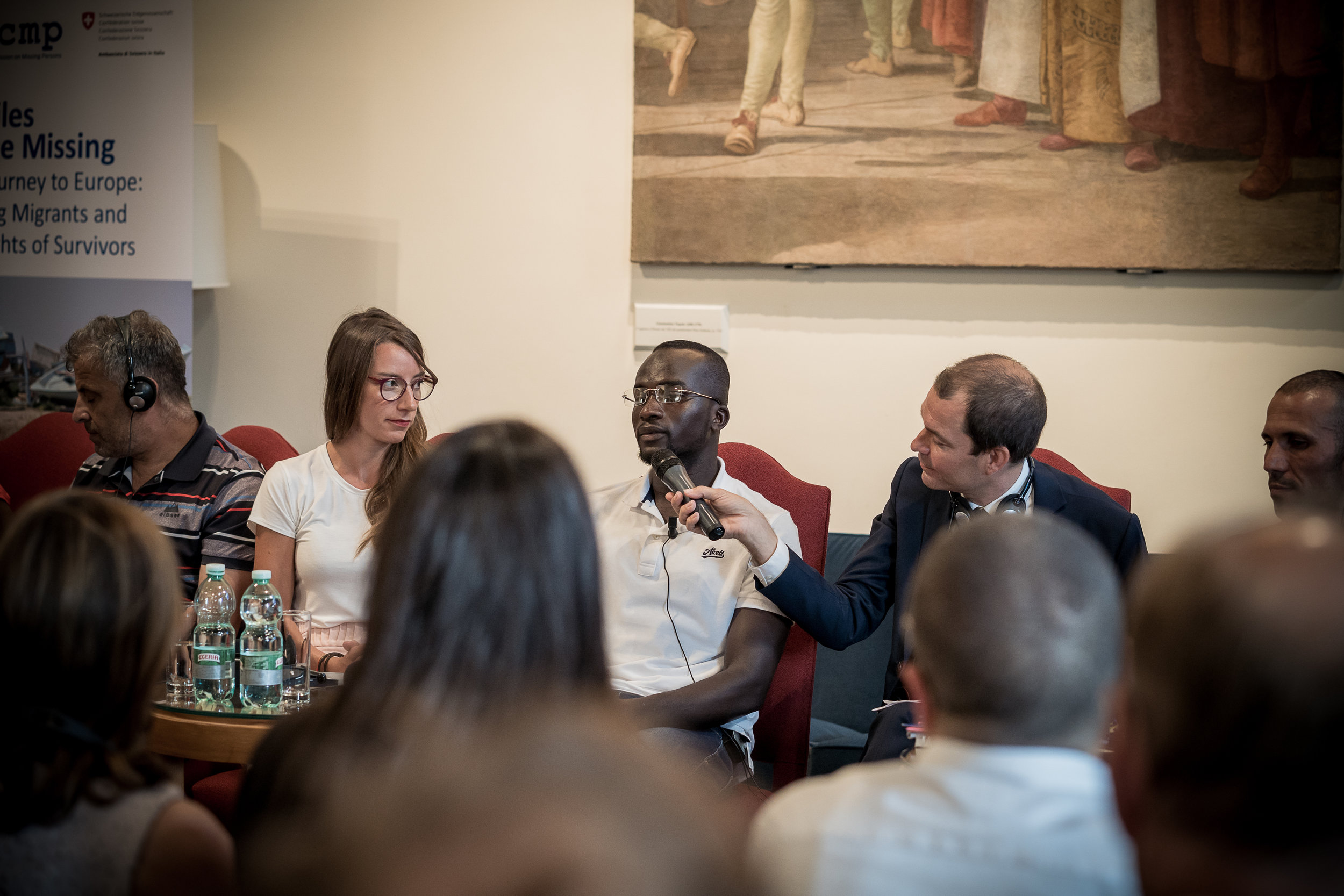 Live at the conference, at the Embassy of Switzerland, Rome. 11 June 2018. Image courtesy of the  ICMP .