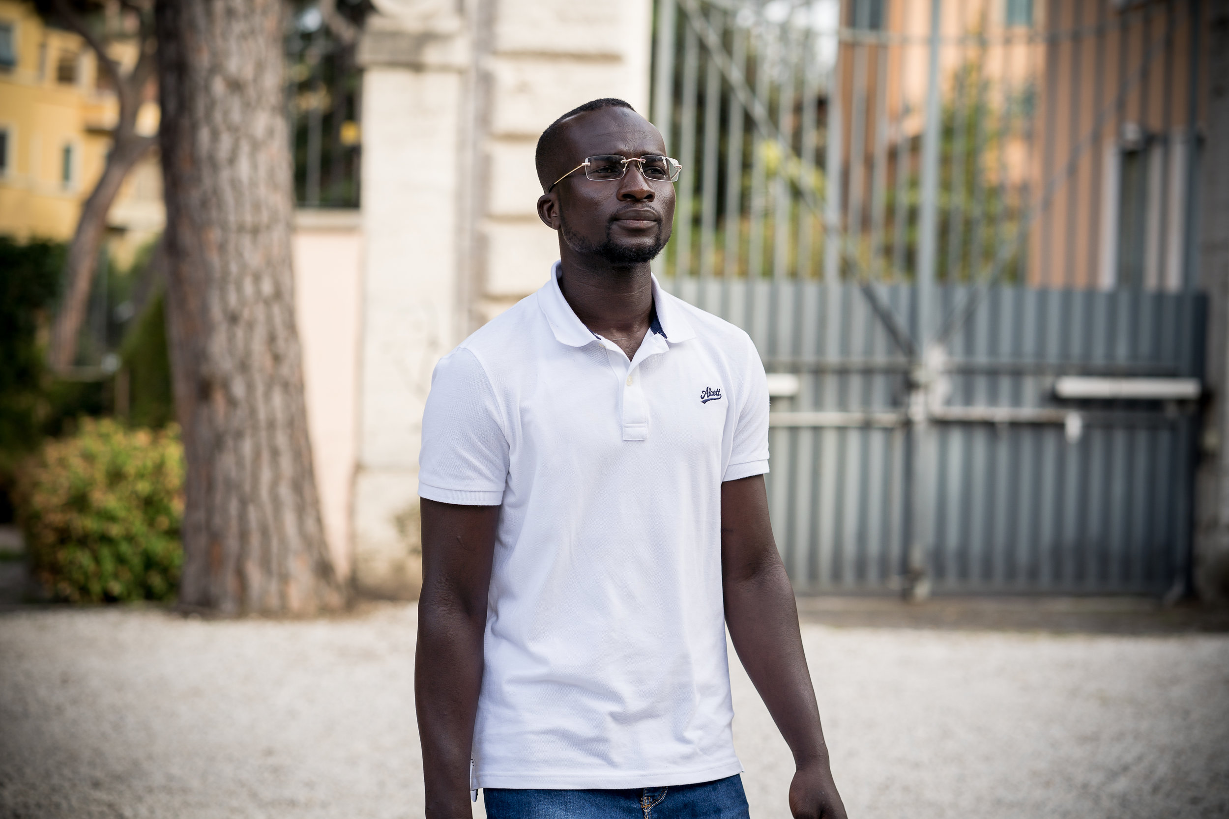 Bakary David at the Embassy of Switzerland, Rome. 11 June 2018. Image courtesy of the  ICMP .