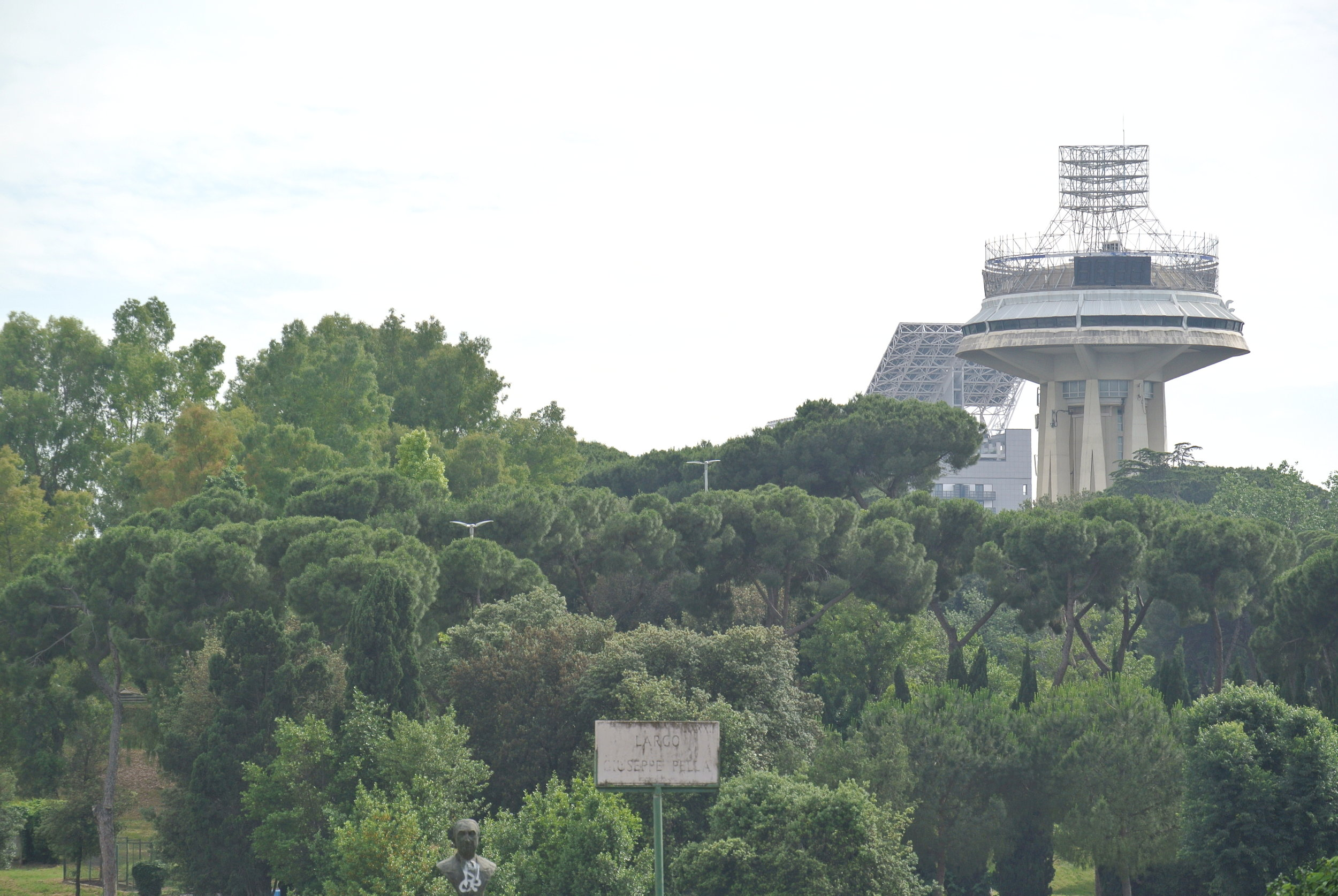 The Mothership: she keeps watch over the space colony. Rome, EUR; May 2018.  ©Pamela Kerpius
