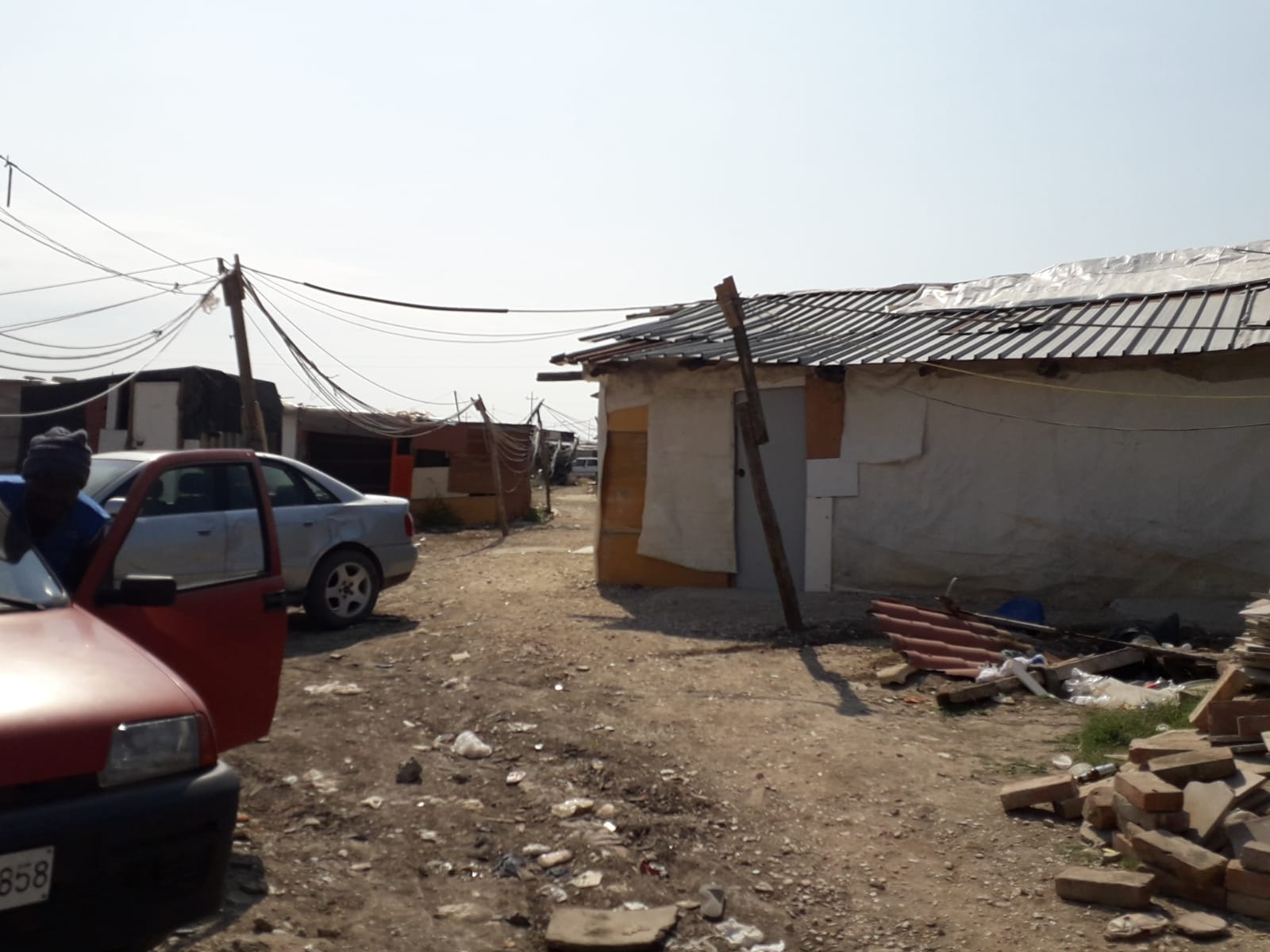 The shantytown near the Foggia housing camp where Alagie's friend was stabbed to death; July, 2018. © Pamela Kerpius