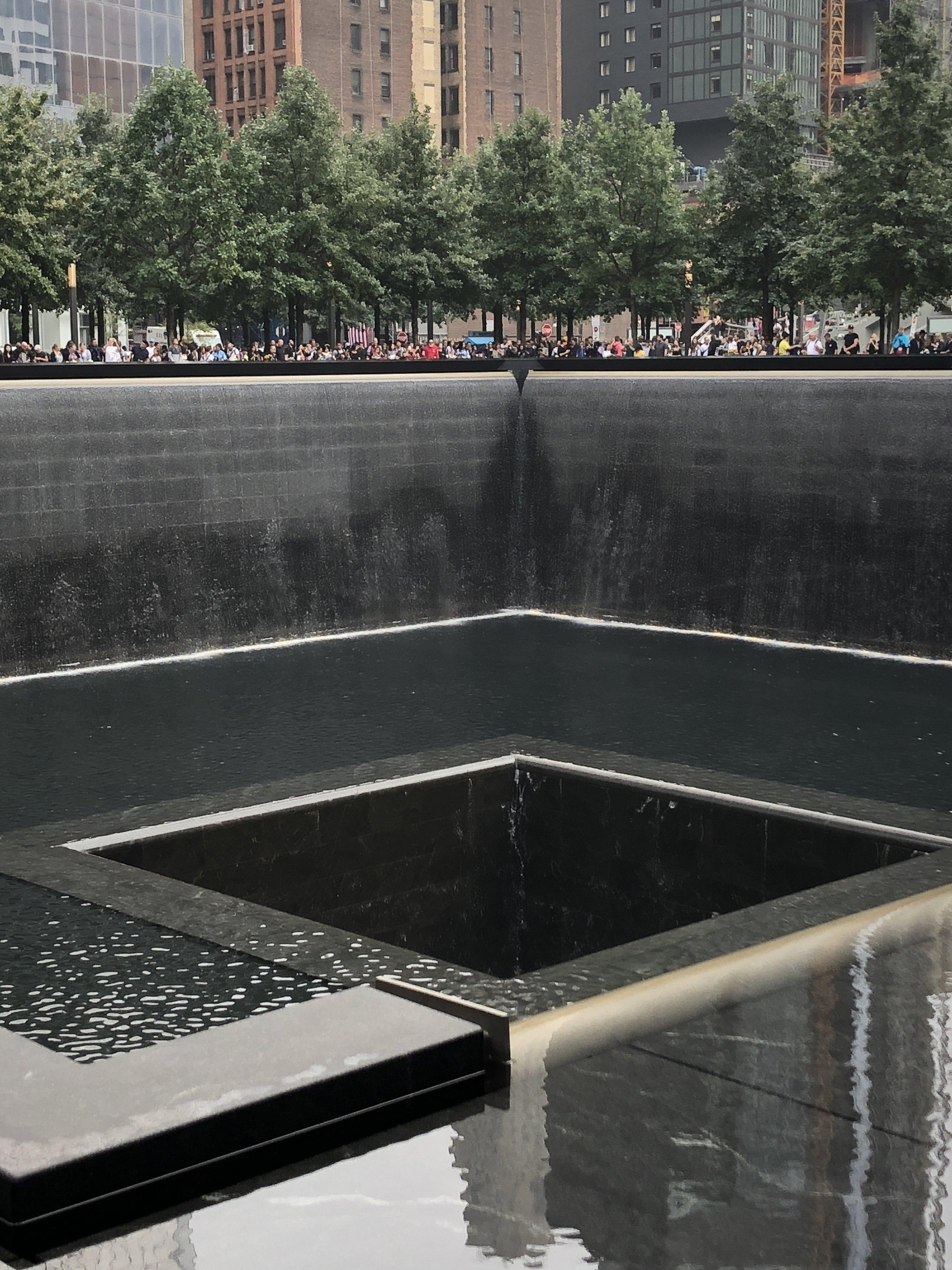 At the 9/11 Memorial, New York City. September 11, 2018. © 2018 Pamela Kerpius
