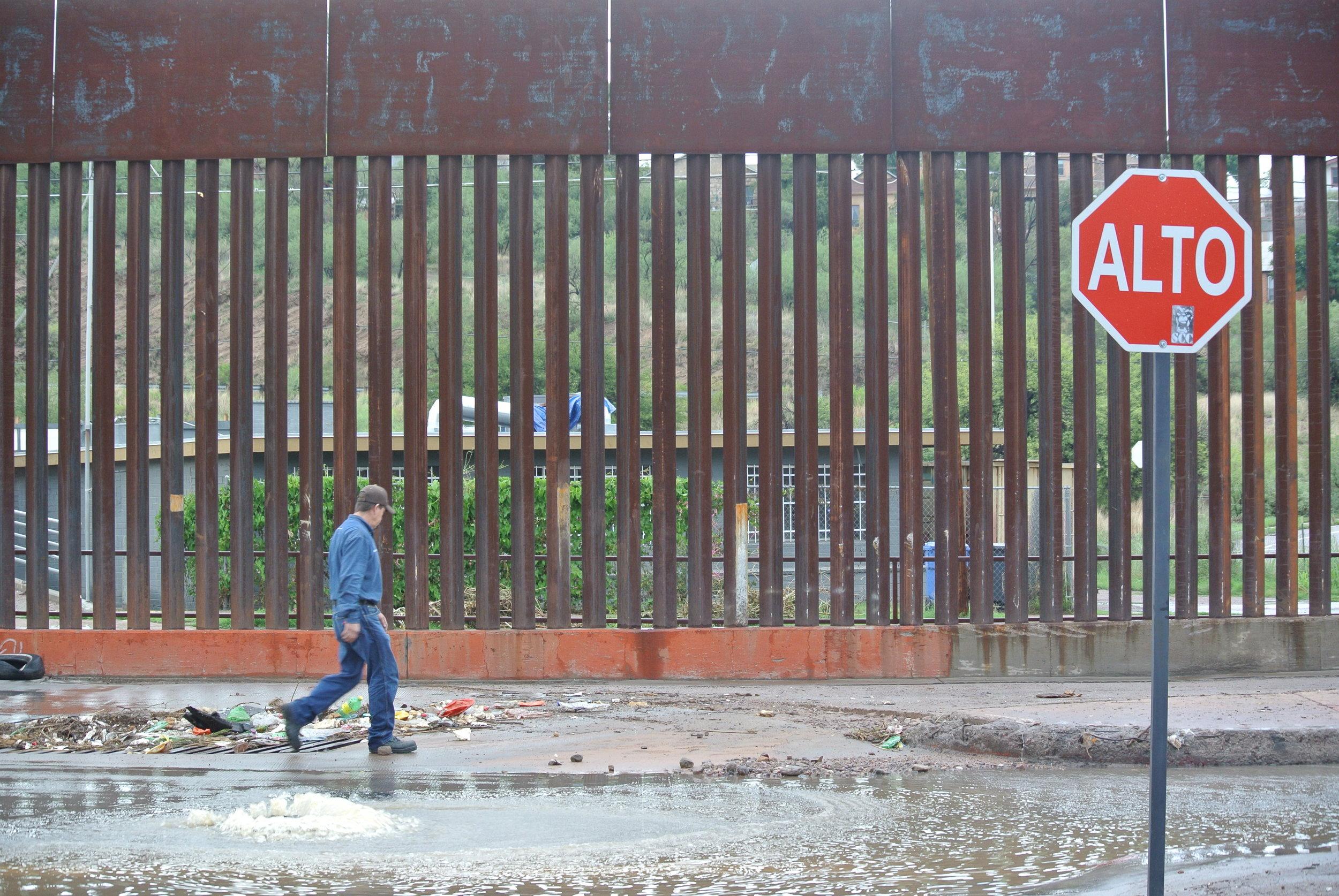 Beside the US-Mexico border wall. Nogales, Mexico; July 2017. © Pamela Kerpius