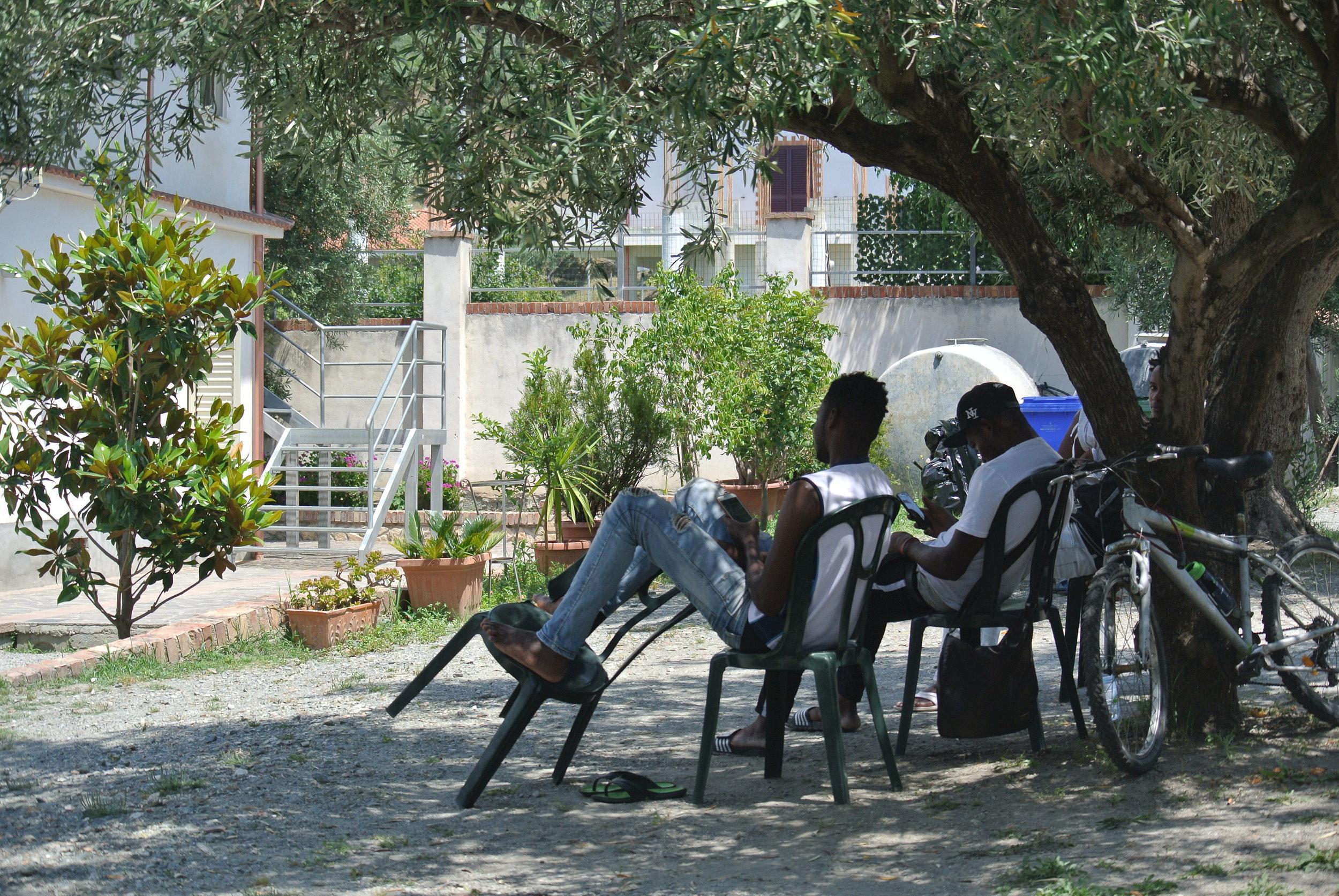 Around the housing camp. Longobardi, Italy; 30 May 2018. ©Pamela Kerpius