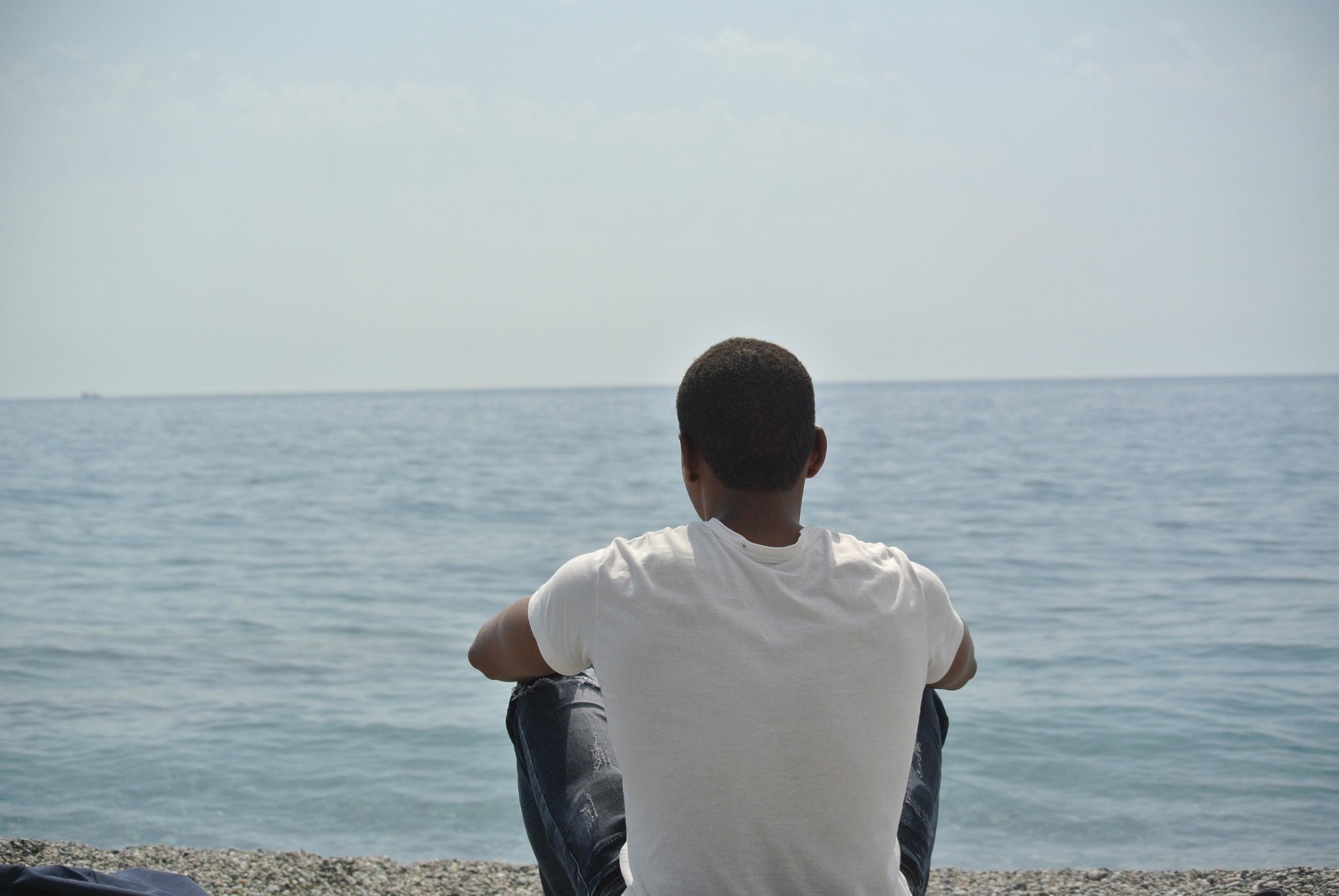 Staring at the sea. Longobardi, Italy; May 2018. ©Pamela Kerpius
