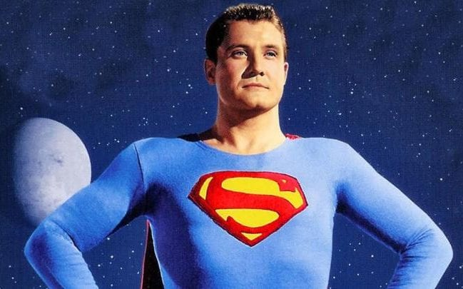 George Reeves, star of TV's  The Adventures of Superman  from 1953-1958.
