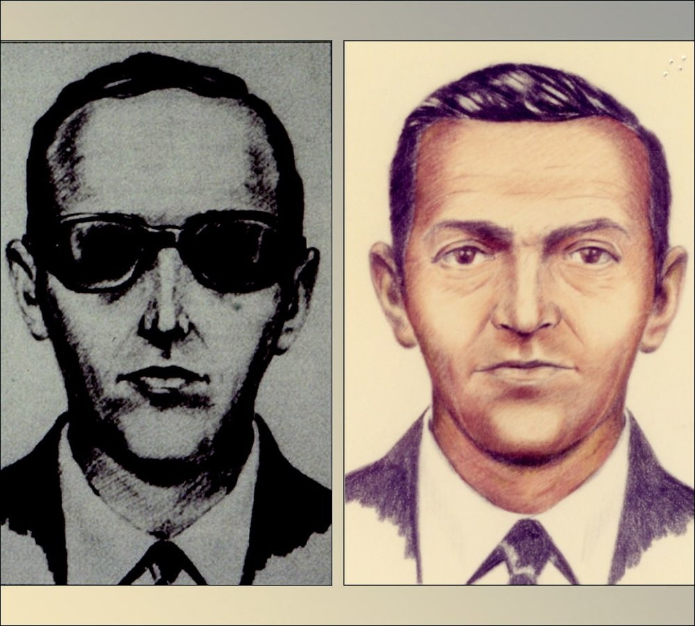 The FBI's composite sketches of D.B. Cooper.