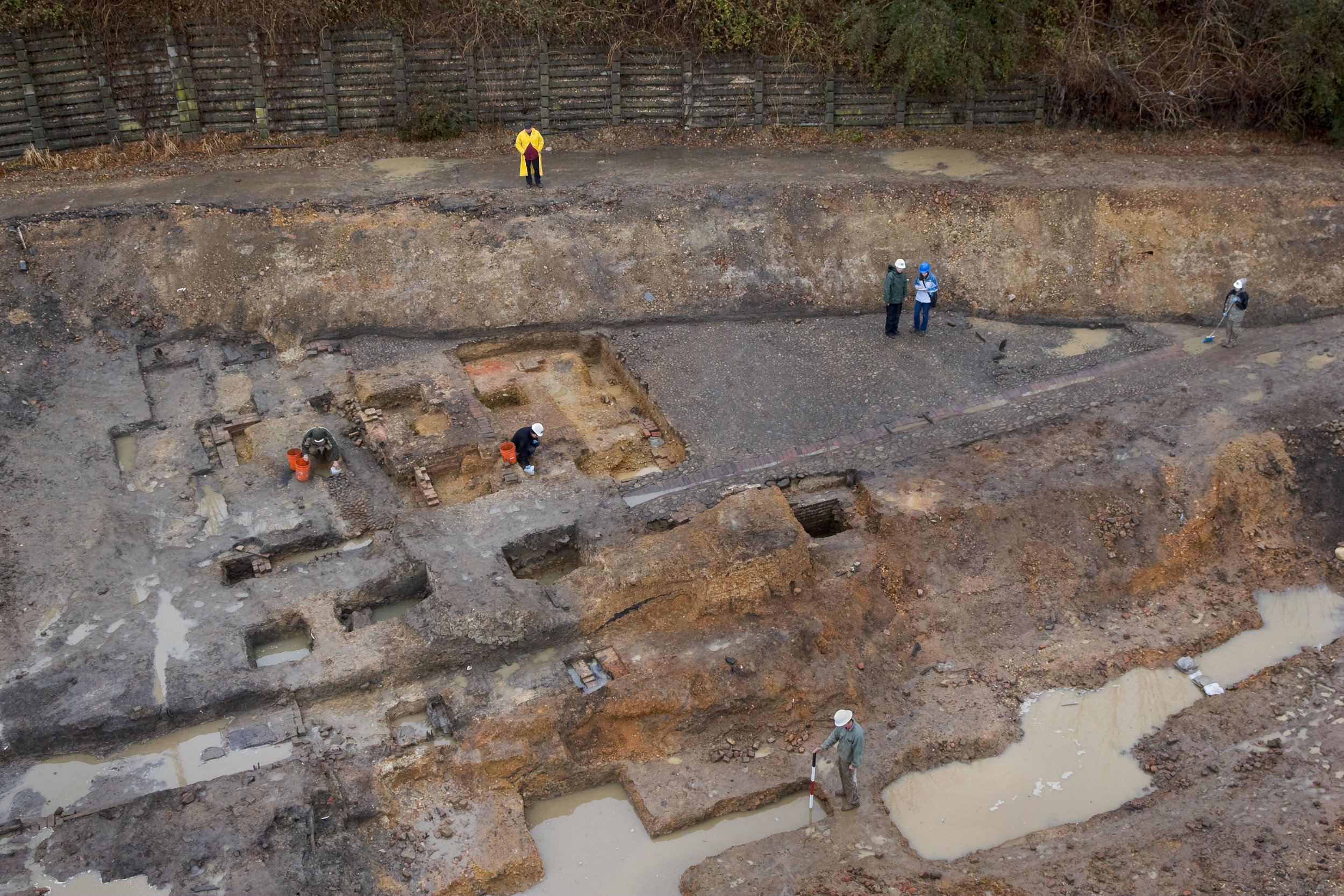 Excavation of the Lumpkin's Slave Jail site