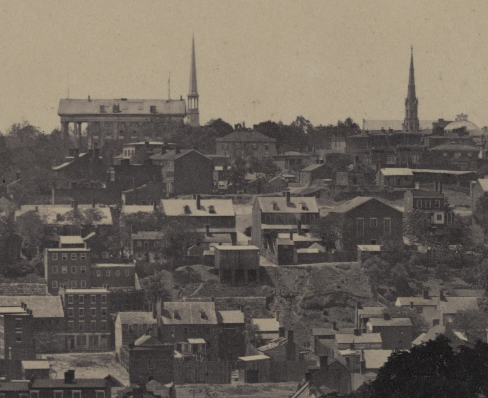 Richmond in 1865. Lumpkin's Jail is in the lower right.