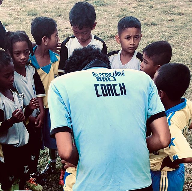 One of our Bali Team outings a soccer outreach!
