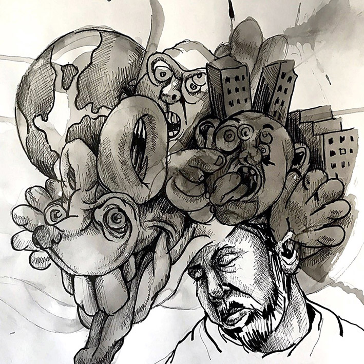 "Luonnosvihkosta: ""New York State of Mind"", Eeva Honkanen"