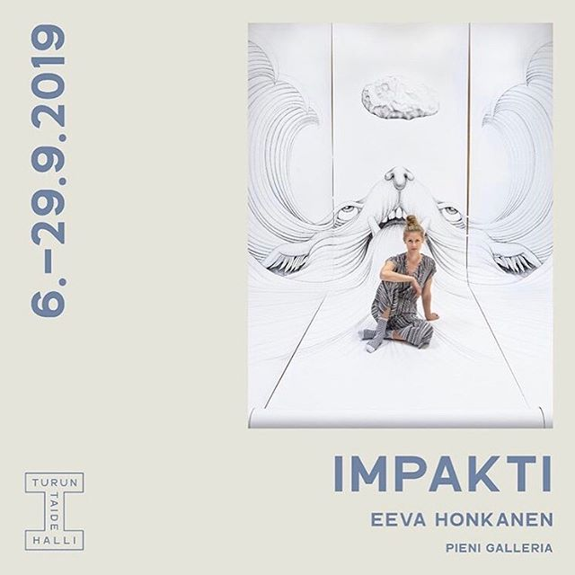 I've been waiting for this day for a long time! My solo exhibition 'IMPACT' opens at @Turuntaidehalli today at 6-8pm! You are warmly welcome to celebrate with me at 6-8pm. 🙋🏼♀️ • On show also exhibitions byIda Palojärvi and Emma Rönnholm. • @turuntaidehalli @ronnholme @idapaloj  Thanks for the support @taikegram @kulttuurirahasto @kuvastory @sivistysrahasto Photo: @maijatoi • • • • • #turuntaidehalli #eevahonkanen #art #artist #exhibition #drawing #gallery #turku #finland #pen #pencilart #artinstallation #inked #blackandwhite #animal #sea #stone #taide #photo #view #artwork #contemporaryart #draw #inkdrawing #stone #artofvisuals #suomi #turku #contemporaryart