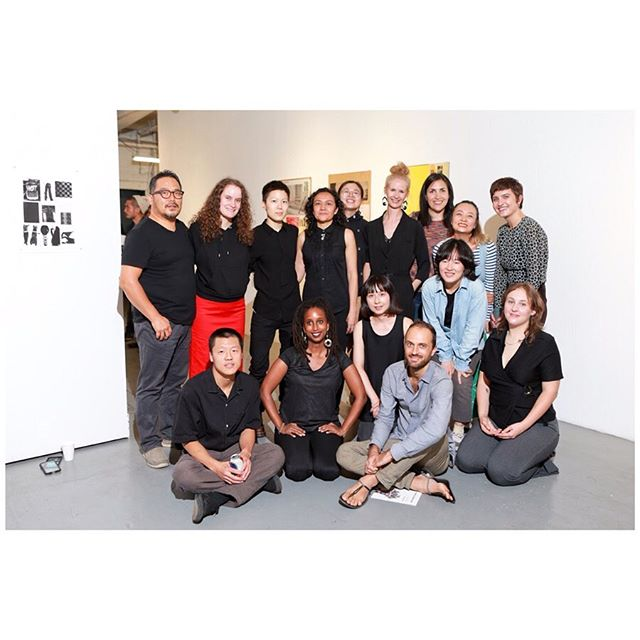 """This group of artists ❤️ Our recidency group exhibition """"Behind the Seen"""" is on display at @narsfoundation until September 20th.  Come through!  Photos: Yu Young Dong • • • • #narsresidency #art #artist #opening #newyork #brooklyn #exhibition #groupexhibition #artwork #contemporaryart #nyc #residencyartist #artwork  #photo #view #drawing #draw #residenssi #taide #finland #suomi #sunsetpark"""