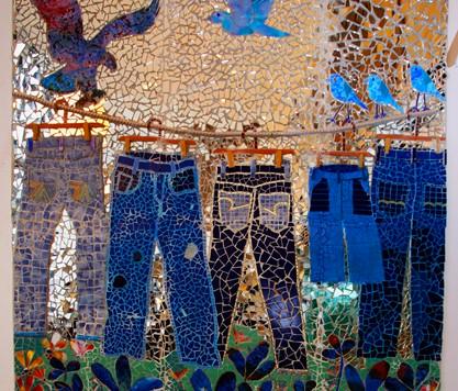 Blue Jeans Mosaic