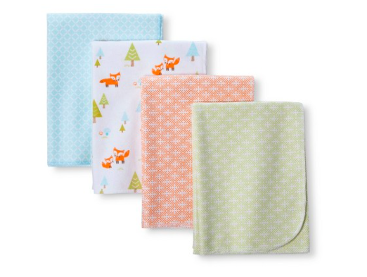Circo 4-pk Flannel Receiving Blankets - Regular $9.99, Sale $5.99, REDcard price $5.49