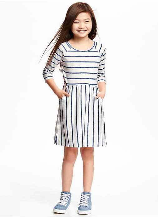 Striped Jersey Fit & Flare  Sale Price $7.95, Regular $19.95