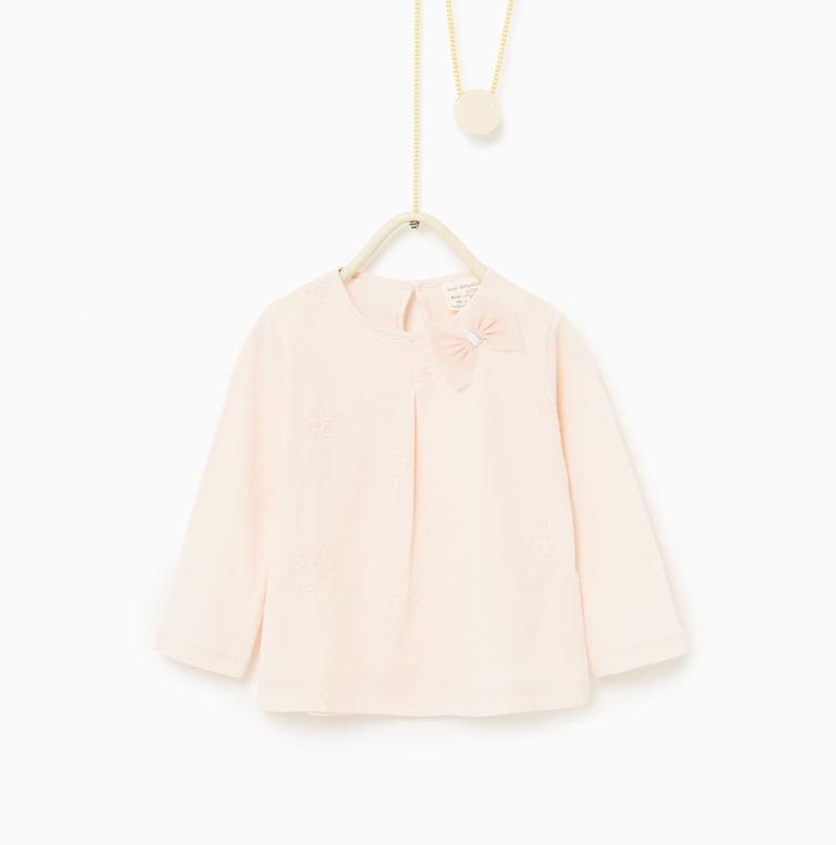Girls Embroidered Bow Top: Sale $4.95, Regular $9.90