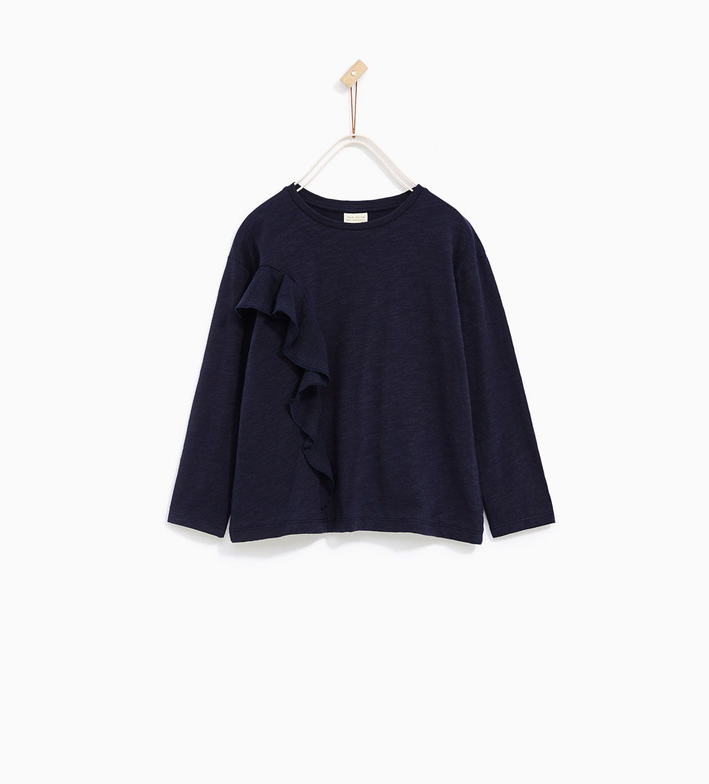 Girls Crossover Frilled T-shirt: Sale $6.45, Regular $12.90