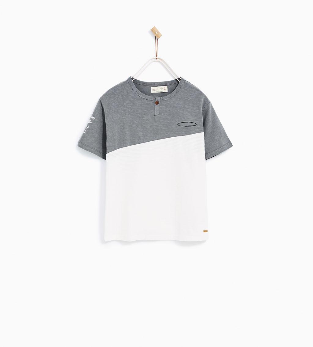 Boys Jacquard Contrast T-Shirt: Sale $6.45, Regular $12.90