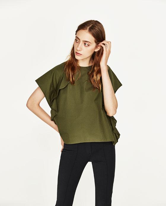Women's Top W/Frilled Sleeve: Sale $17.95, Regular $35.90