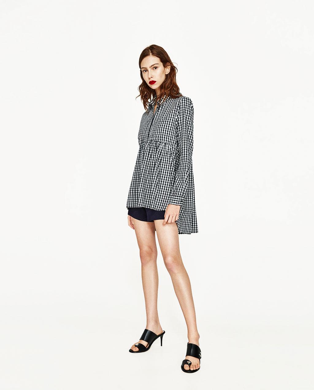 Women's Babydoll Gingham Shirt: Sale $24.95, Regular $49.90