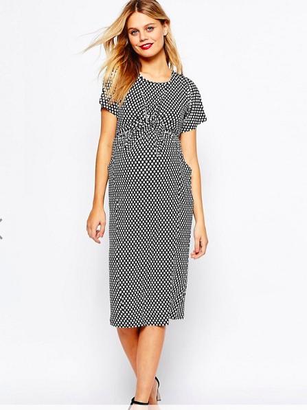 Maternity Spot Wiggle Dress - Sale $16.54, Regular $57.13