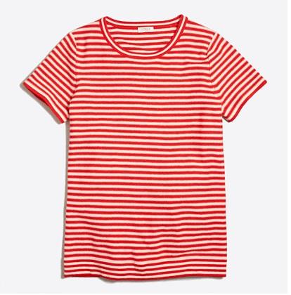 Short-sleeve Striped Sweater: Sale $14.99