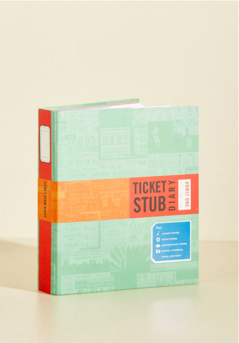 Ticket Stub Diary - Sale $4.50, Regular $14.99
