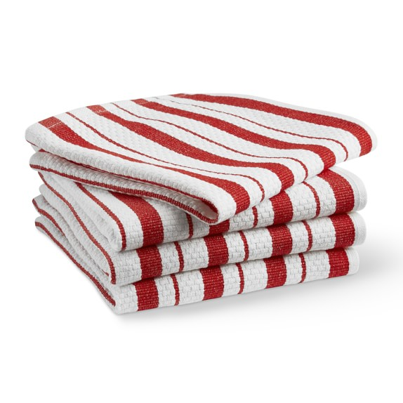 WS Classic Striped Dishcloths in Flame (Set of 4): Sale $6.39, Regular $9.95