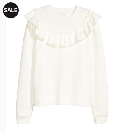 Sweatshirt with ruffle - Sale $9.99, Reg $24.99