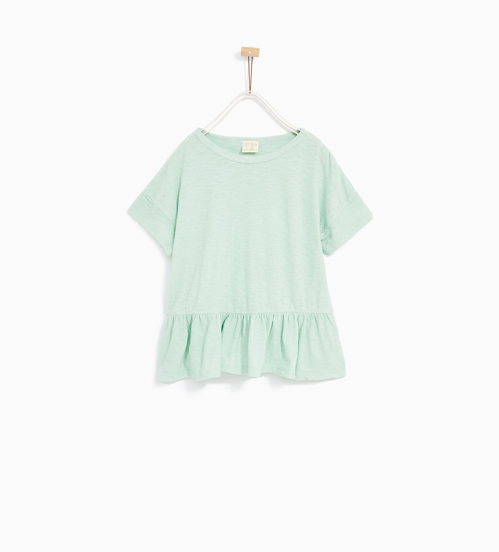 Frilled Hem Top: Sale $6.99, Regular $9.99