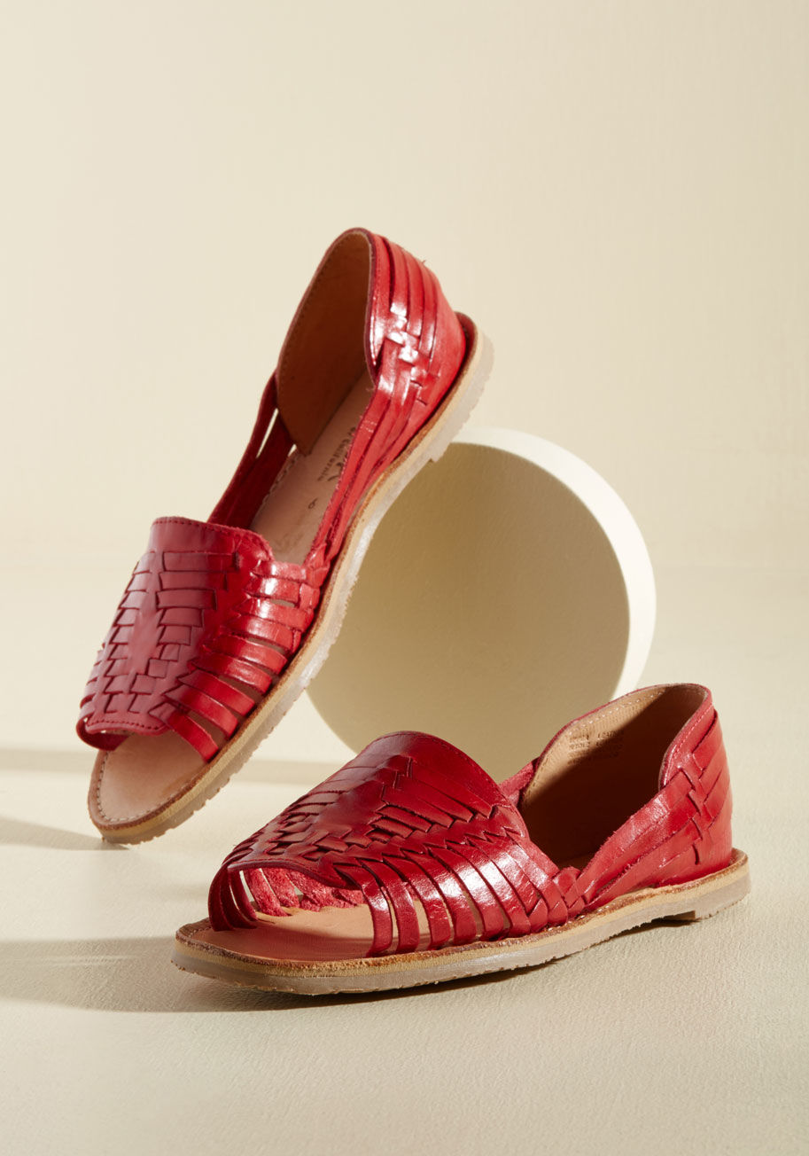 Leather Woven Flats: $32.99, Regular $54.99