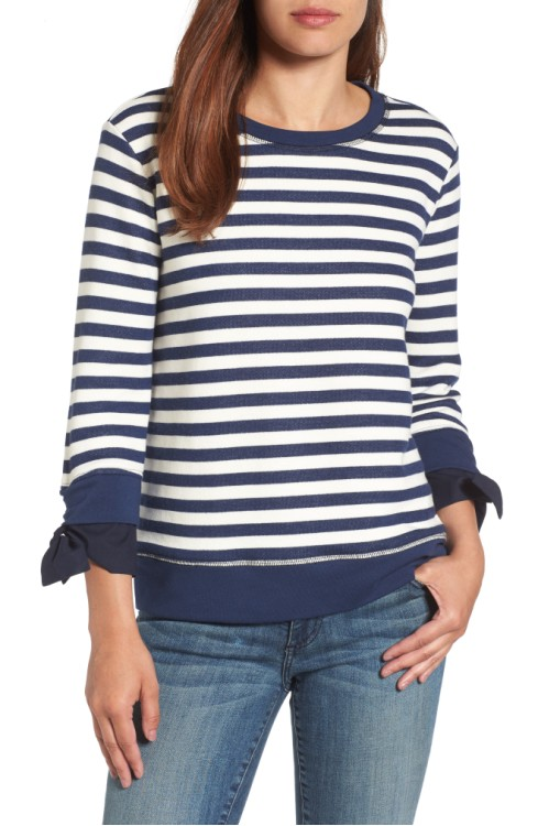Gibson Tie Sleeve Sweatshirt: Sale $29.53, Regular $59.00