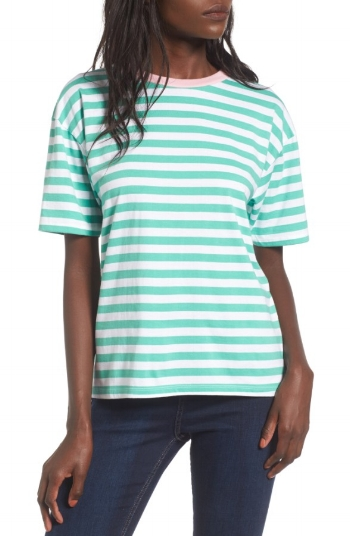 Topshop Contrast Neck Stripe Tee: Sale $12.99, Regular $26.00