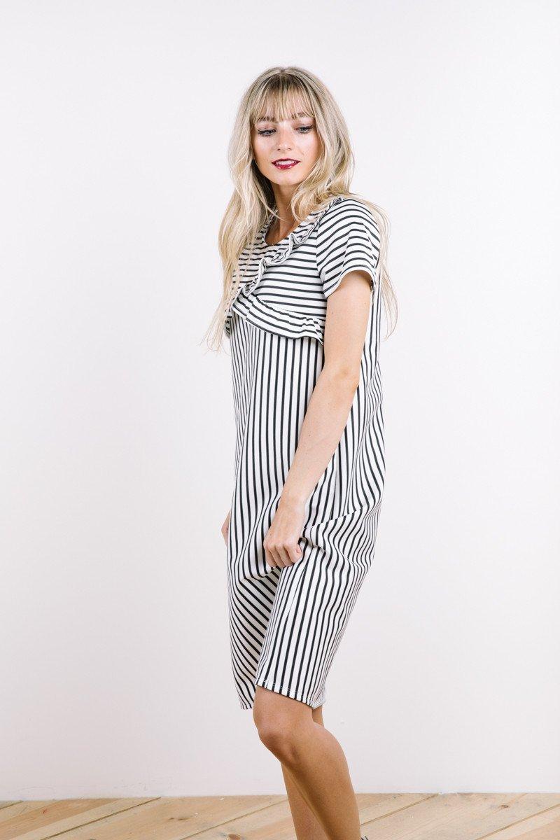 Davenport Striped Ruffle Dress: Sale $20.40, Regular $42.00
