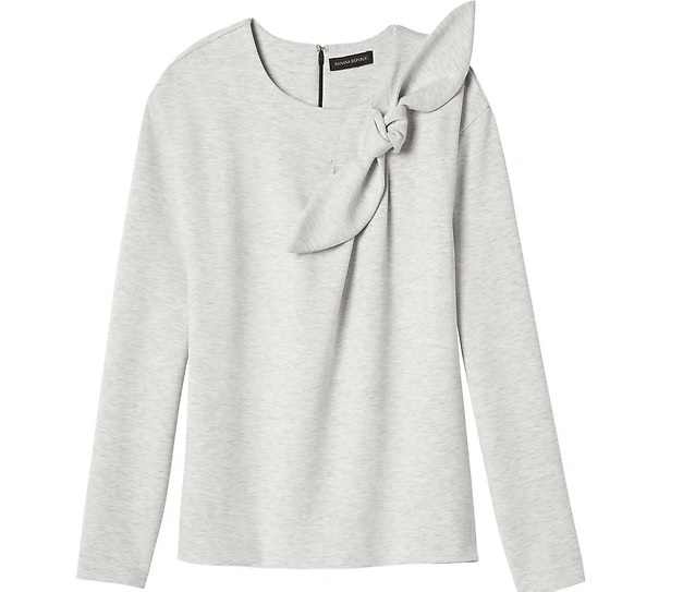 Bow-neck Couture Sweatshirt: Sale $20.69, Regular $58.00
