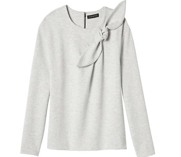 Bow-neck Couture Sweatshirt: Sale $20.69, Regular $58.00