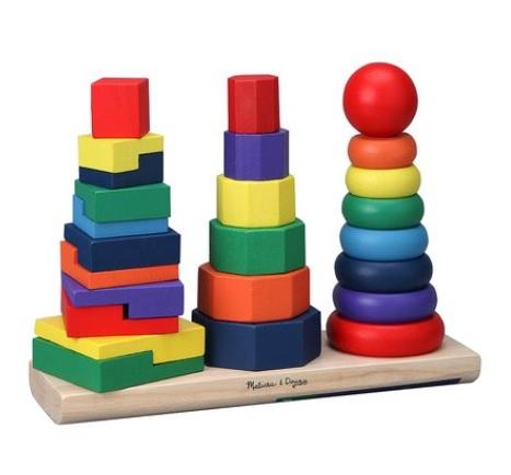 Geometric Stacker Set: Sale $13.49, Regular $17.00