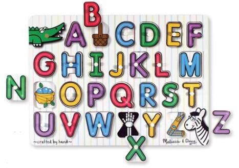 See-inside Alphabet Peg Puzzle: Sale $6.99, Regular $11.99