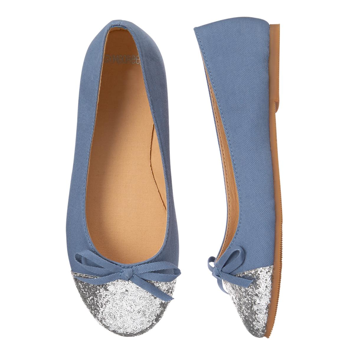 Girls Glitter Toe Flats: Sale $6.99, Regular $32.95