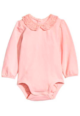 Onesie with lace collar - $4.89, Reg $9.99