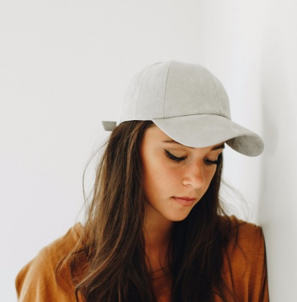 Avery - Gray Suede Baseball Cap