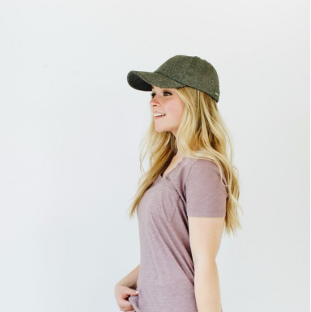 Chloe - Speckled Gray Baseball Cap