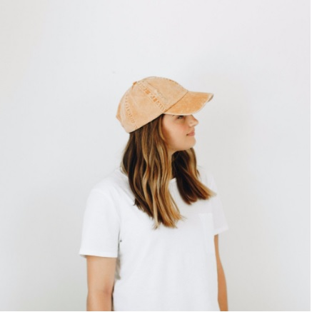 Roxy - Distressed Carmel Baseball Cap