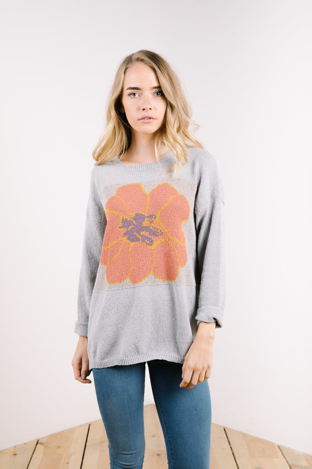 Dawson Knit Flower Sweater: Sale $23.80, Regular $42.00